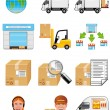 Storage and delivery icons — Stock Photo