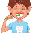 Child cleaning tooth — Stock Photo