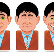Avatar icons (facial expression:wink,surprise,pleasure,dr — Stock Photo