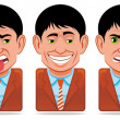 Stock Photo: Avatar icons (facial expressions:sick,disgust,vanity,ange
