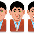 Avatar icons (facial expressions:in love,whistle,yawn) — Stock Photo