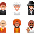 Stock Photo: Avatar icons (religion)