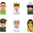 Stock Photo: Avatar icons (army)