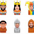 Stock Photo: Avatar icons (middle ages)