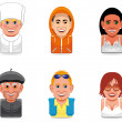 Stock Photo: Avatar icons