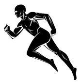 Runner silhouette — Stock Photo