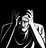 Depressed man — Stock Photo