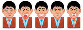 Avatar icons (facial expressions:sick,disgust,vanity,ange — Stock Photo