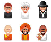 Avatar icons (religion) — Stock Photo