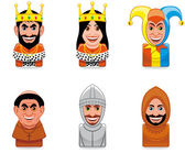 Avatar icons (middle ages) — Stock Photo