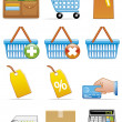 Royalty-Free Stock Photo: Shopping icons