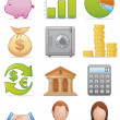 Stock Photo: Finance icons