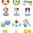 Royalty-Free Stock Photo: Internet icons
