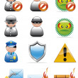 Internet security icons - Stock Photo