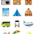 Stock Photo: Vacation and travel icons
