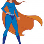 Superwoman — Stock Photo