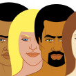 Stockfoto: Interracial group of