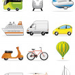 Vehicles icons — Stock Photo
