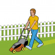Man cutting grass — Stock Photo #3887933