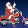 Santa motorcyclist — Stock Photo