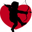 Silhouette cupid - Stock Photo