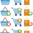 Shopping basket,cart and bag icons — Stock Photo #3888073