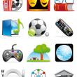 Leisure time icons - Stock Photo