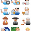 Occupations icons — Stock Photo