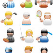 Occupations icons (sports) — Stock Photo