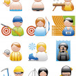 Stock Photo: Occupations icons