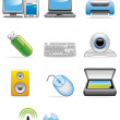 Computer devices icons - Stock Photo