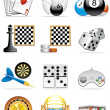 Stock Photo: Games icons