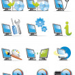 Computer icons — Stock Photo