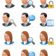 User icons (detailed face) — Stock Photo