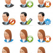 User icons (detailed face) — Stock Photo #3888209