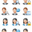 User icons — Stock Photo