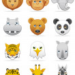Wild animals icons — Stock Photo