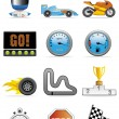 Motor racing icons — Stock Photo