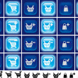 Royalty-Free Stock Photo: Shopping cart,basket and bag buttons with light effect