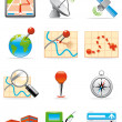 Location and gps icons - Stock Photo