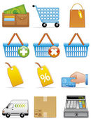 Shopping icons — Stock Photo