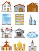Building icons — Stock Photo