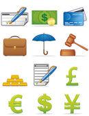 Finance icons — Stock Photo
