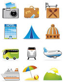 Vacation and travel icons — Stock Photo