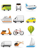 Vehicles icons — Stock Photo