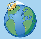 Bus travel around the world — Stock Photo