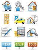 Real estate icons — Stock Photo