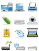 Computer devices icons — Stock Photo