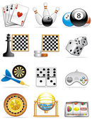Games icons — Stock Photo