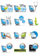 Computer icons — Stock Photo